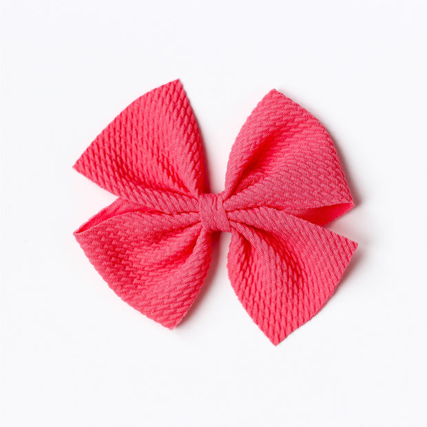 Little Lopers Butterfly Bow: Guava (All Styles)