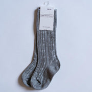 Little Stocking Co. Knee High Socks: Gray