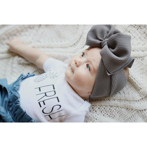 Little Lopers Bow: Gray Skies (All Styles)