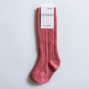 Little Stocking Co. Knee High Socks: Hibiscus Pink