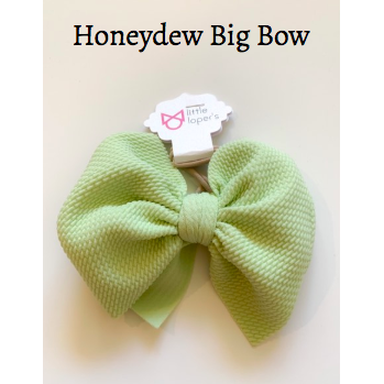 Little Lopers Bow: Honeydew (All Styles)