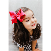 Little Lopers Ribbon Bow: Hot Pink