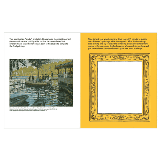 Mudpuppy Activity Book: I Heart Monet