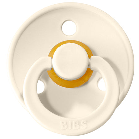 BIBS Pacifiers: Classic Round - Ivory