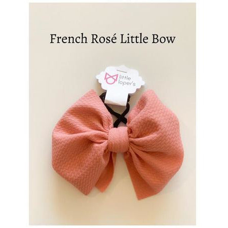 Little Lopers Bow: French Rosé (All Styles)