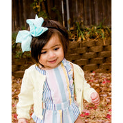 Little Lopers Ribbon Bow: Mint