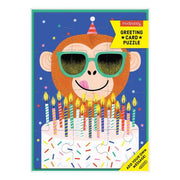 Mudpuppy Greeting Card Puzzle: Monkey Cake
