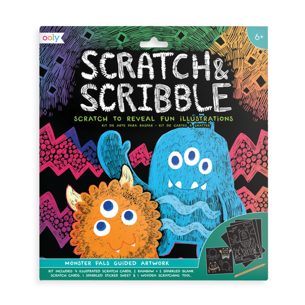 OOLY: Scratch & Scribble Art Kit - Monster Pals