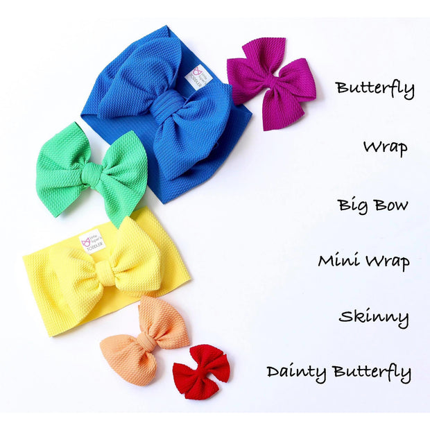 Little Lopers Bow: Apple (All Styles)