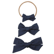 Lou Lou and Company- Navy Classic Bow- Mini