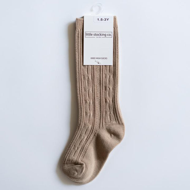 Little Stocking Co. Knee High Socks: Oat