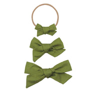 Lou Lou and Company- Olive Classic Bow- Mini