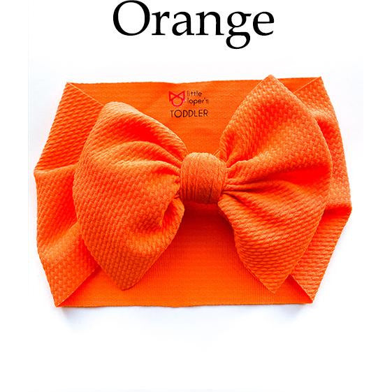 Little Lopers Bow: Orange (All Styles)