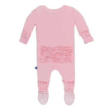 Kickee Pants Classic Ruffle Footie with Snaps - Lotus