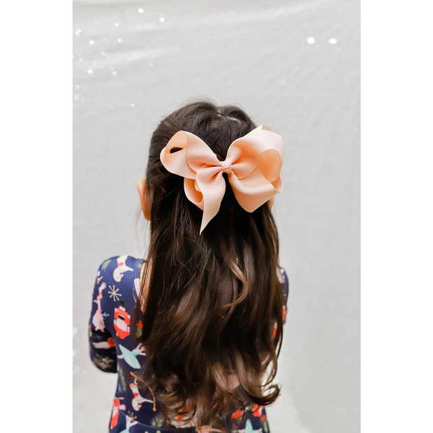 Little Lopers Ribbon Bow: Peach