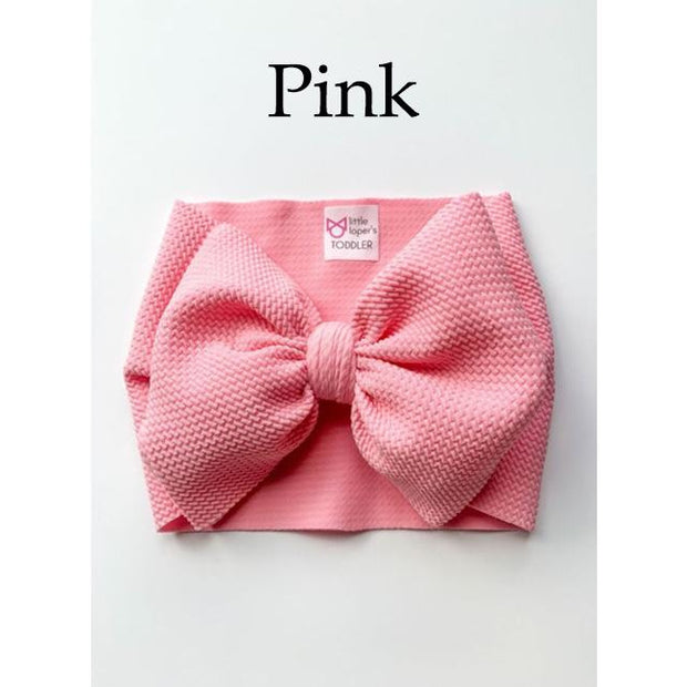 Little Lopers Bow: Pink (All Styles)