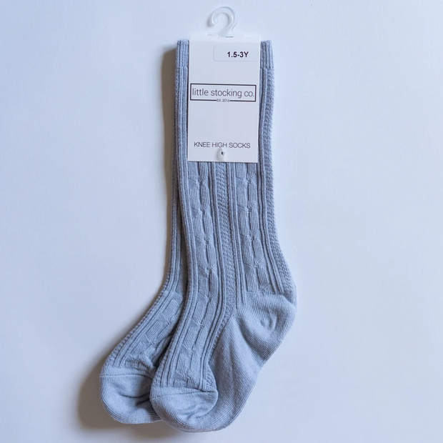 Little Stocking Co. Knee High Socks: Powder Blue