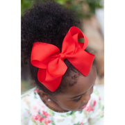 Little Lopers Ribbon Bow: Red