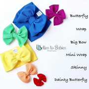 Little Lopers Flap-less Velvet Bow: Teal (All Styles)