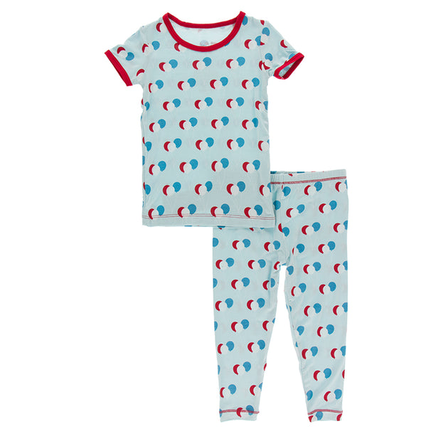 Kickee Pants Pajama Set: Spring Sky Birthday