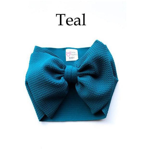 Little Lopers Bow: Teal (All Styles)