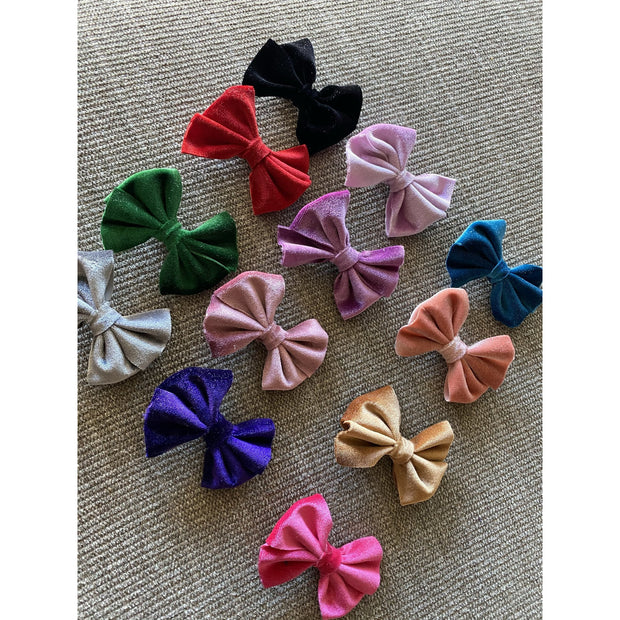 Little Lopers Flap-less Velvet Bow: Peach (All Styles)