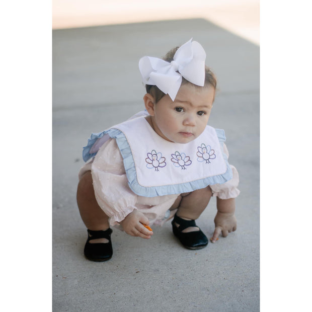 Little Lopers Ribbon Bow: White