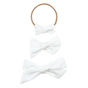 Lou Lou and Company-White Classic Bow- Mini