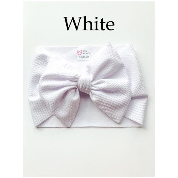 Little Lopers Bow: White (All Styles)
