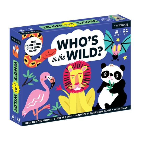 Mudpuppy Games: Who's In The Wild? Guessing Game