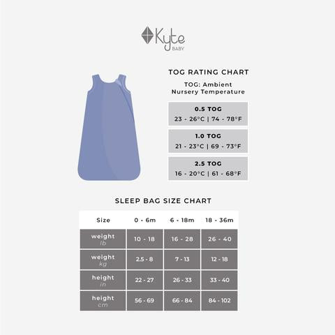 Kyte Baby Sleep Sack: Charcoal 1.0 TOG
