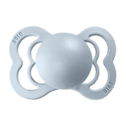BIBS Pacifiers: Supreme Silicone - Baby Blue/Baby Blue
