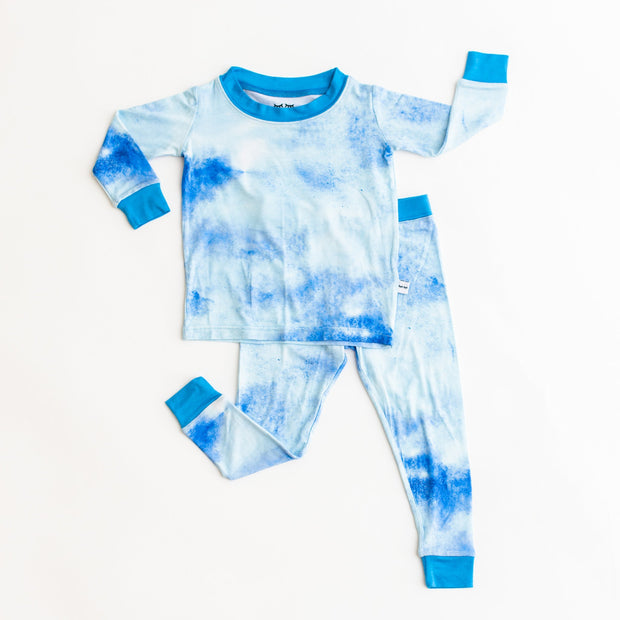 Little Sleepies Two-Piece Pajama Set: Blue Watercolor