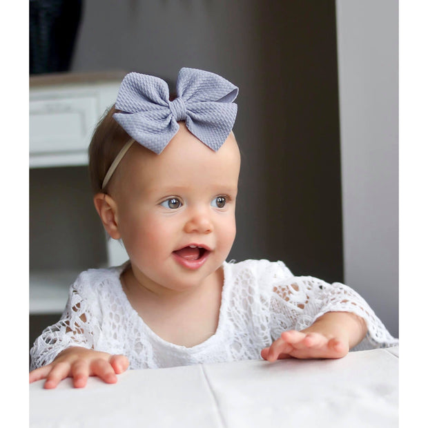 Little Lopers Butterfly Bow: Stone (All Styles)