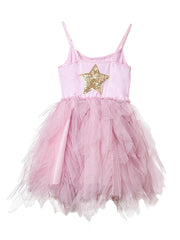 Petite Hailey Fur Wave Tutu Dress: Pink