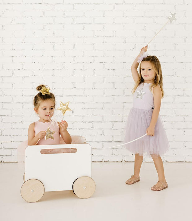 Petite Hailey Tutu Dress: Lavender Star