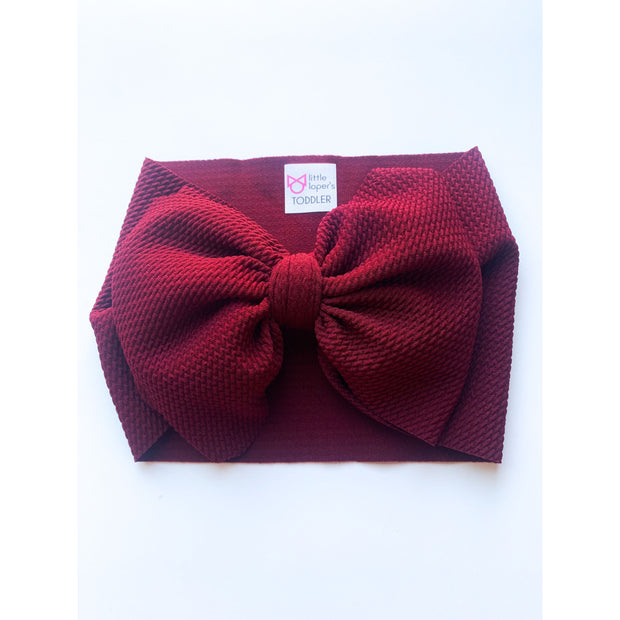 Little Lopers Bow: Burgundy (All Styles)