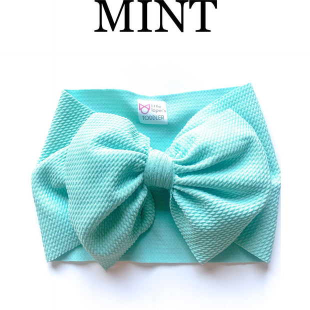 Little Lopers Bow: Mint (All Styles)