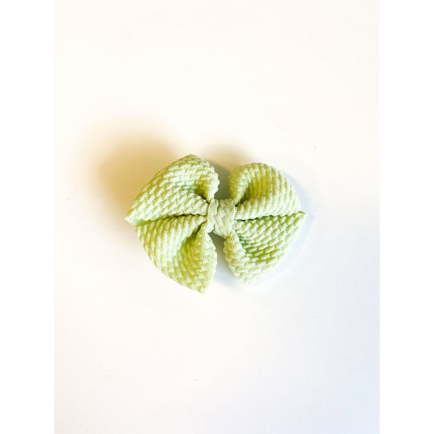 Little Lopers Butterfly Bow: Honeydew (All Styles)
