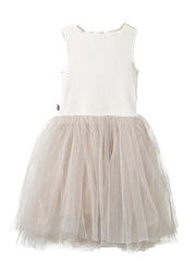 Petite Hailey Star Tutu Dress: Beige