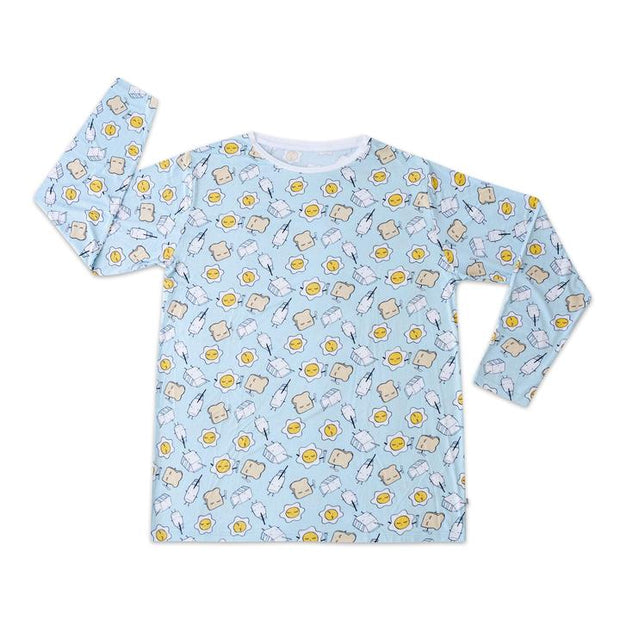Little Sleepies Men's Pajama Top: Blue Breakfast Buddies