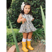 Little Stocking Co. Lace Top Knee High Socks: White