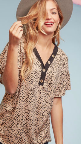 Roz Cheetah Top