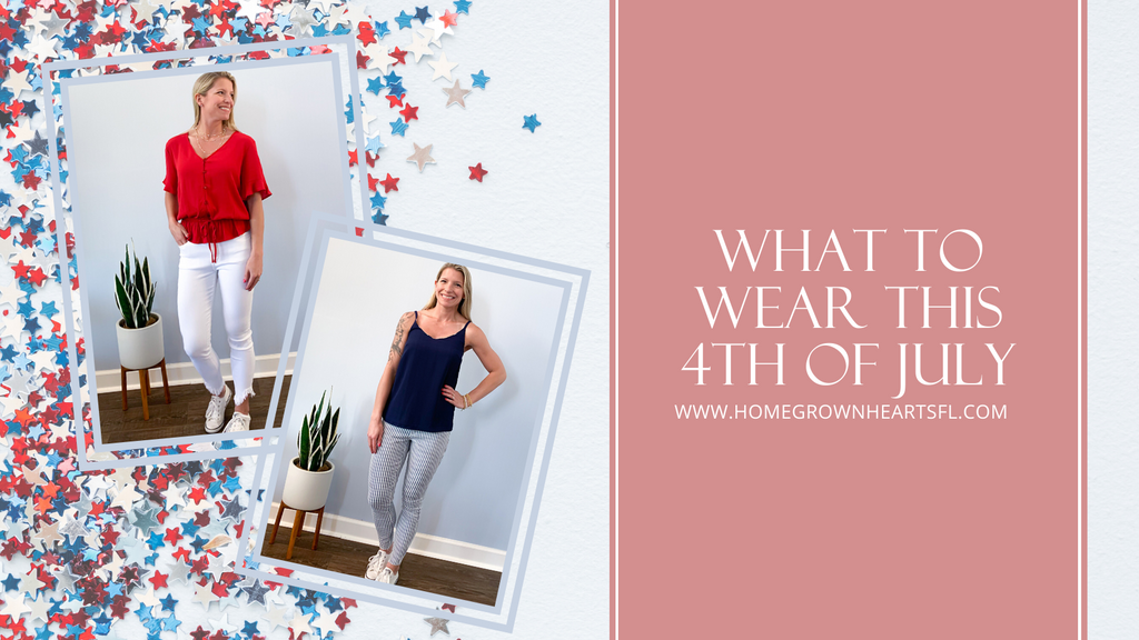 What to wear this 4th of July. If you're thinking of dressing up this 4th of July but don't want to wear the normal patriotic graphic tee, here are some cute red, white, and blue options that will keep you looking casual and festive.