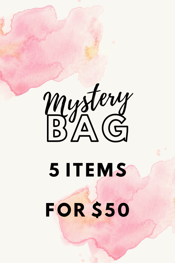 Love our style and surprises? Then you don't want to miss out on this mystery bag. Each bag consists of 3 clothing items and 1 accessory from any season .  This may include tops, dresses, or outerwear.  There are only a limited number of bags available so grab yours quick!  If you purchase multiple bags, we cannot guarantee that there will not be duplicate items but we'll do our best!  Discount codes may not be used on Mystery Bags unless noted otherwise.