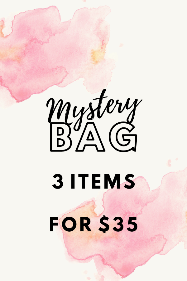 Love our style and surprises? Then you don't want to miss out on this mystery bag. Each bag consists of 3 items total which will include 2 clothing items and 1 accessory from any season .  This may include tops, dresses, or outerwear.  There are only a limited number of bags available so grab yours quick!