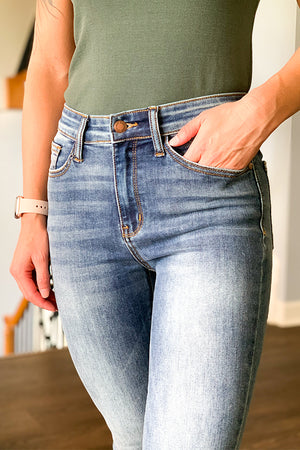 We are OBSESSED with our new Light Wash Trouser Flare Jeans by Judy Blue.  These stretchy jeans feature a trouser style hem with a classic 5-pocket detail.  Mix match these flares with a basic tee or cute tank top with your favorite boots our wedges.