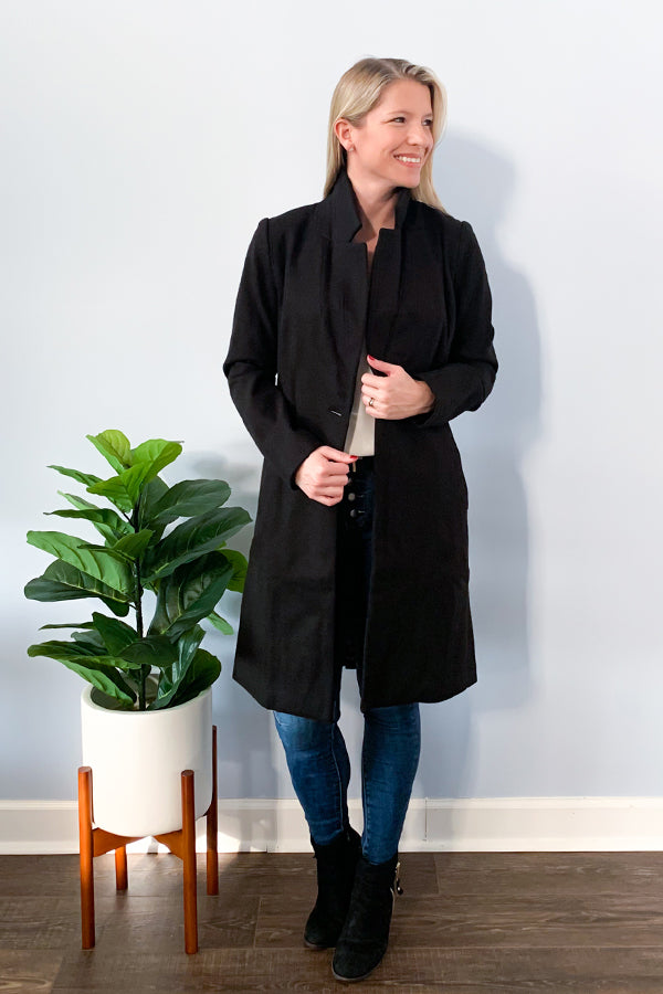 We love the leopard detail on this closet staple! The Single Button Print Lining Coat is simple, sophisticated, and so chic!  This black single-button coat features a cute leopard print lining, single button closure, and notched lapels. Pair this chic jacket with anything!