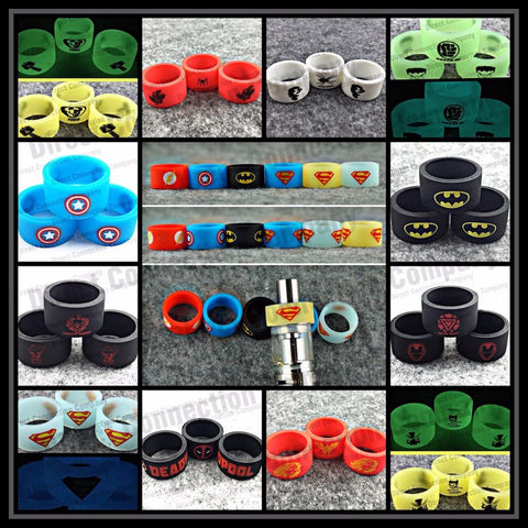18mm Superhero Silicone Tank Band