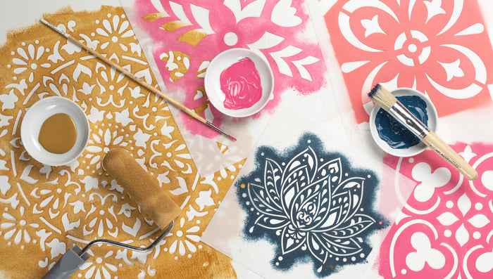 Stencil and DIY Craft Tutorials from Stencil Revolution